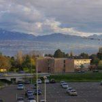 Вид из окна моего офиса в EPFL