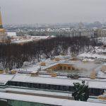 Зимний Петербург с колоннады Исаакиевского собора